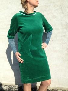 stjernekjole grøn